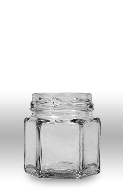 1.5 fluid oz. (45 ml) Glass Hex (24/case w/43mm LUG lids) [HEX15]