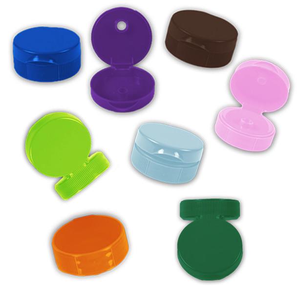 Rainbow flip top caps w/pressure sensitive seals