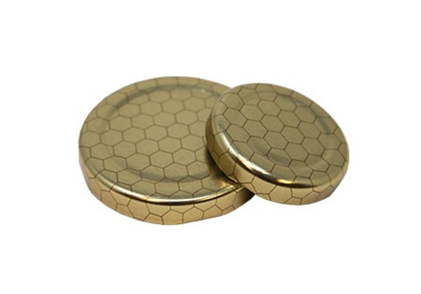 Gold with Hex Design 58mm LUG lid