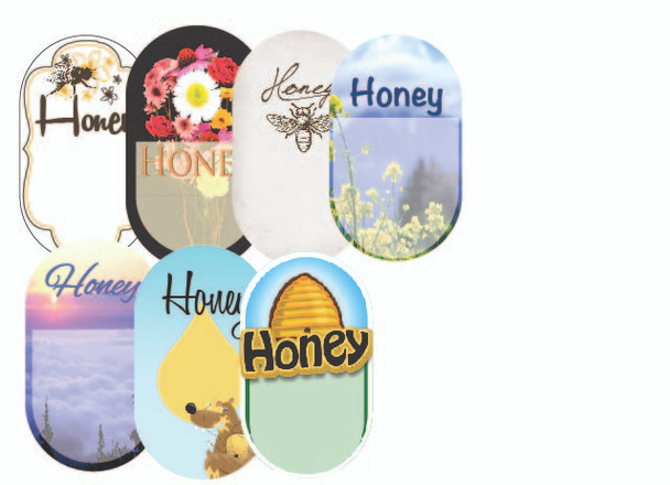 "Blank ""Honey"" Labels (roll of 250) [BHL]"