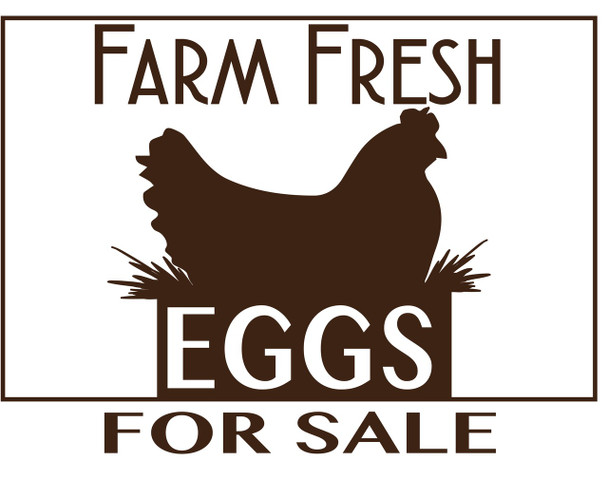 Fresh Eggs for Sale Sign [PL-1]