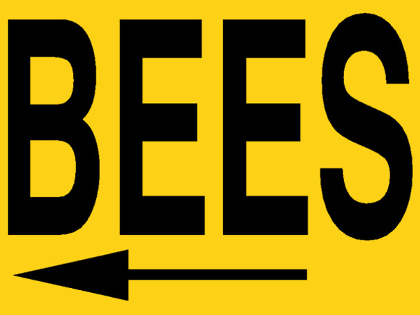 Bee Meeting Double-Sided Sign w/Stand [MTG]