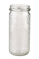 12 oz. wt. Glass Cylinder with hex cell embossing