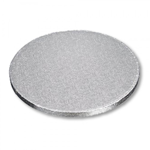 """Enjay - 1/2-8RS12 - 8"""" X 1/2"""" Thick Round Cake Board  - Silver 6/Pack"""