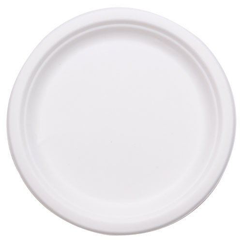 "Bio-Sposables/ Soline HarvestPac - PL-09-1  - 9"" Bagasse Plates 1-Compartment 500/Case"