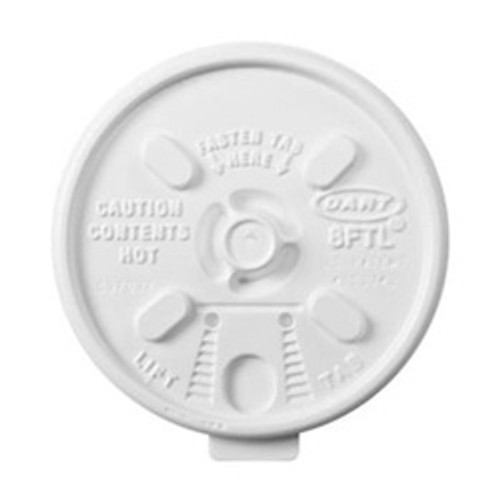 Dart - 10FTL - Tear Back Lid For 10 Oz Foam Cup 1000/Case
