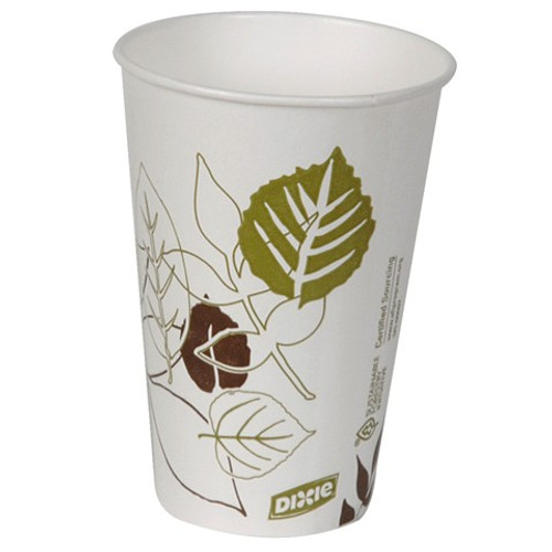 Dixie - 12PPATH - Pathways - 12 oz Poly Paper Cold Cups - 2400/Case