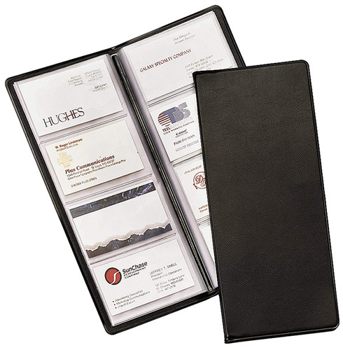 Cardinal 689-610 - Business Collection Card File - Holds 96 Business Card - Black - Each