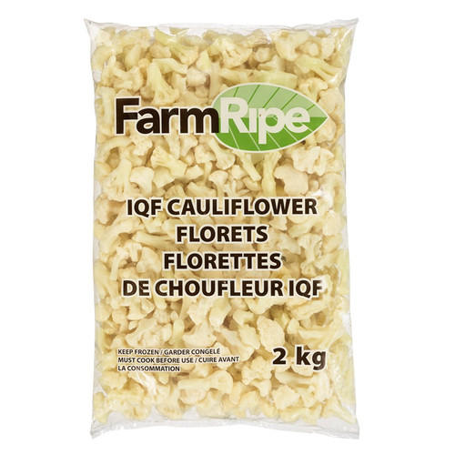 Farm Ripe 6610 IQF FROZEN Cauliflower - 6x2kg