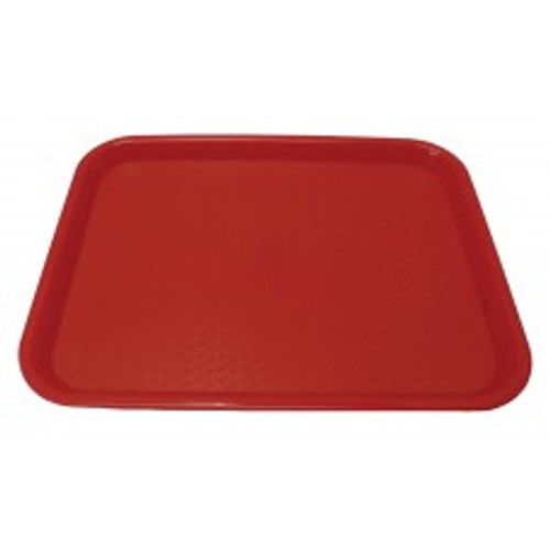 """Johnson Rose - 86122 - Plastic Food Service Tray Red 12"""" X 16"""" EACH"""