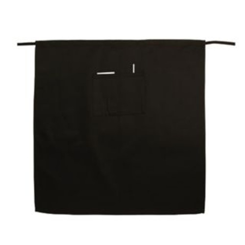 "Winco - WA-3129K - Professional Full Length Waist Apron With Pocket Black 31""X 29.5"" 1/Each"