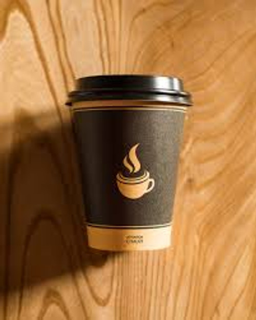 Morning Dew - H10SE - 10 Oz Squat Hot Paper Cup Ebony Design 1000/Case