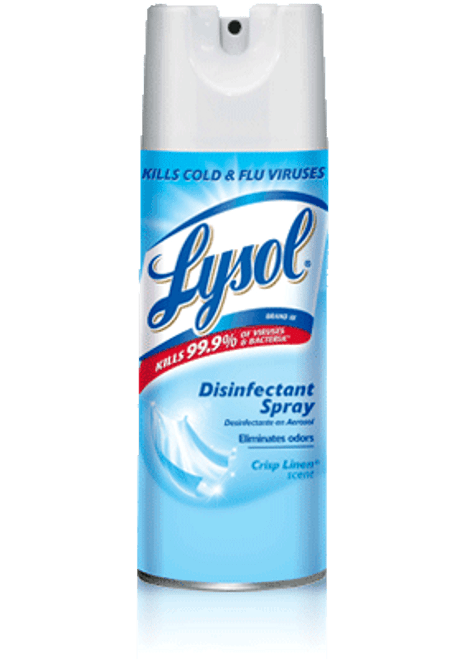 Lysol - 34052 - Disinfecting Spray, Crisp Linen 350G/Each