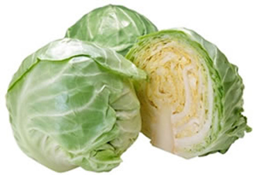 Fresh Cabbage, Green, 12/Case