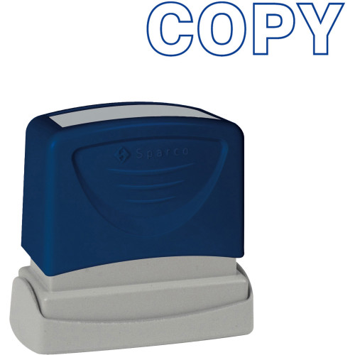 """Stamp 60013 - Blue Printed Stamp Title """"COPY"""" - 1 Each"""