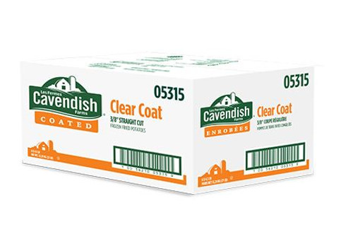 "Cavandish 3/8"" Clear Coat French Fries Straight Cut, Plain - 6x4.5lbs"