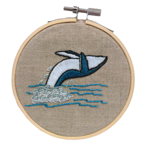 Hand Embroidery Kit - Humpback Whale