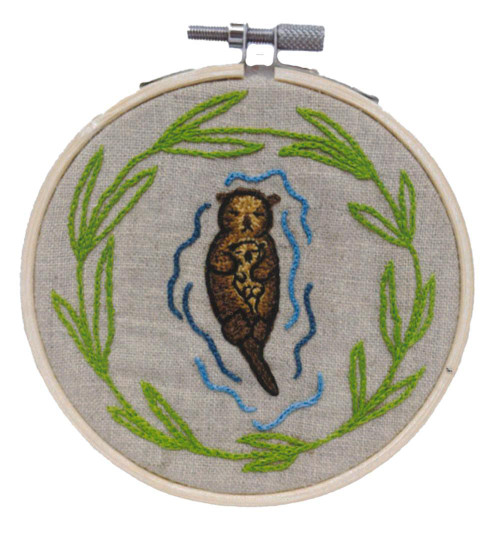 Hand Embroidery Kit - Sea Otter