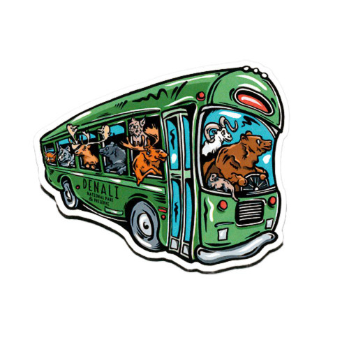 Magnet - Denali Animal Bus