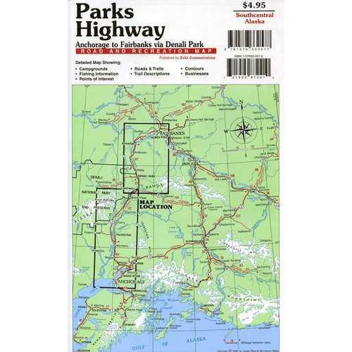 Map - Parks Highway Road & Recreation Map