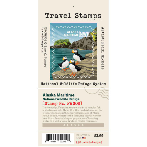 Travel Stamp - Alaska Maritime National Wildlife Refuge