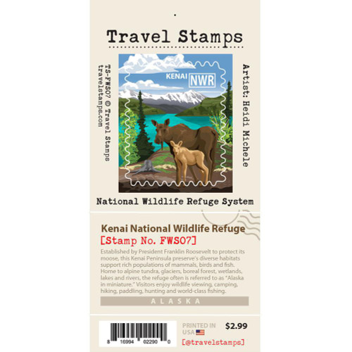Travel Stamp - Kenai National Wildlife Refuge
