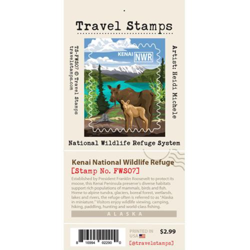 Travel Stamp - Kenai National Wildlife Refuge