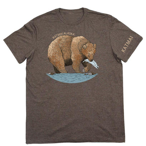 T-Shirt - Katmai Bear - Brown Heather