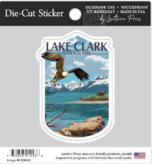 Sticker - die-cut Lake Clark - Lantern