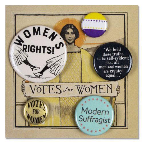 Votes for Women Pin Set