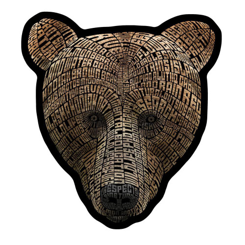 Kodiak Word Bear Magnet