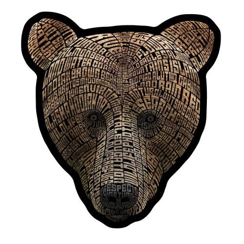 Kodiak Word Bear Magnet
