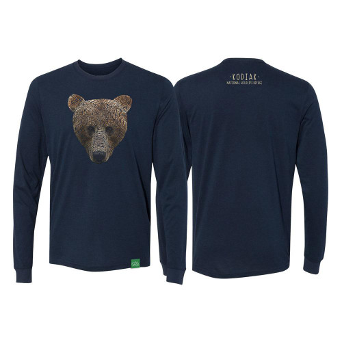 T-Shirt - Kodiak Word Bear - Long Sleeve