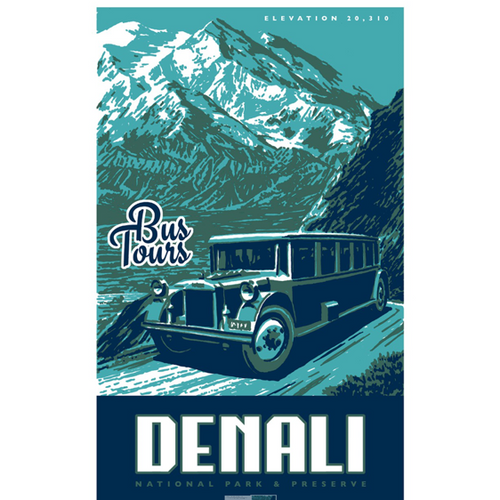 Postcard - Denali Scenic Highways Bus Tours