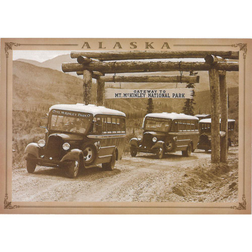 Magnet - Alaska Wild Images - Old Park Buses