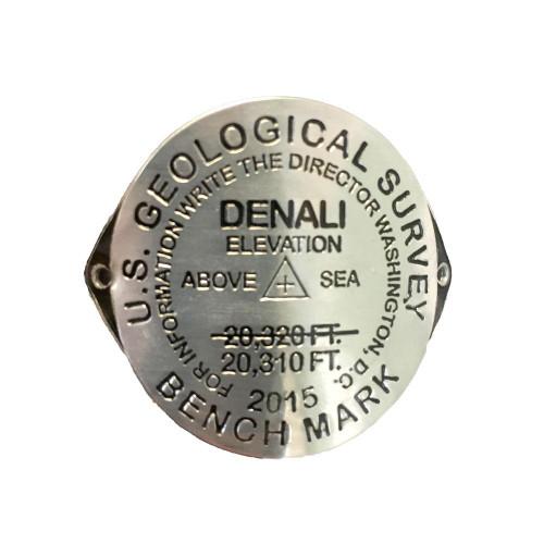 Hiking Medallion - Denali Benchmark