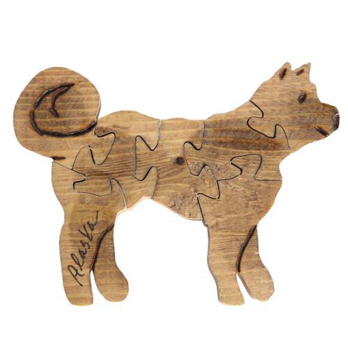 Handmade Wooden Puzzle - Husky