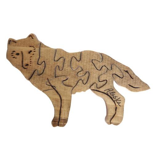 Handmade Wooden Puzzle - Wolf