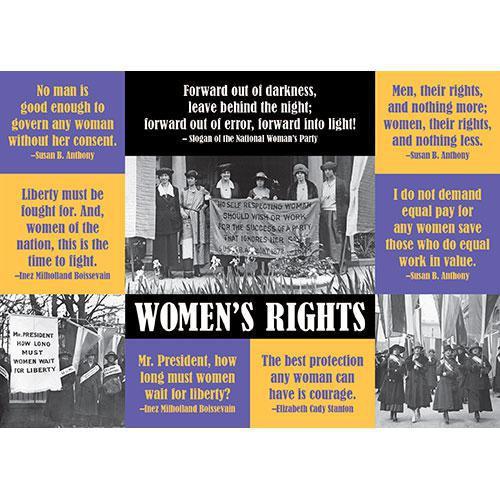 Women's Rights Sticker Postcard