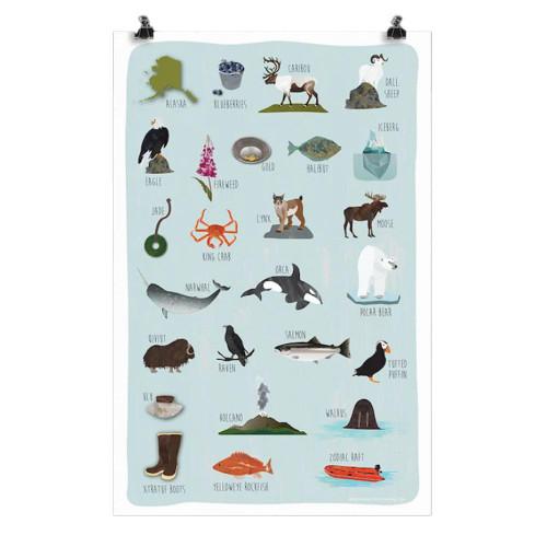 Alaska A to Z Poster