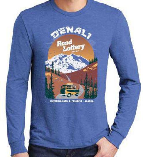 T-Shirt - DENA Retro Road Lottery - Royal Blue