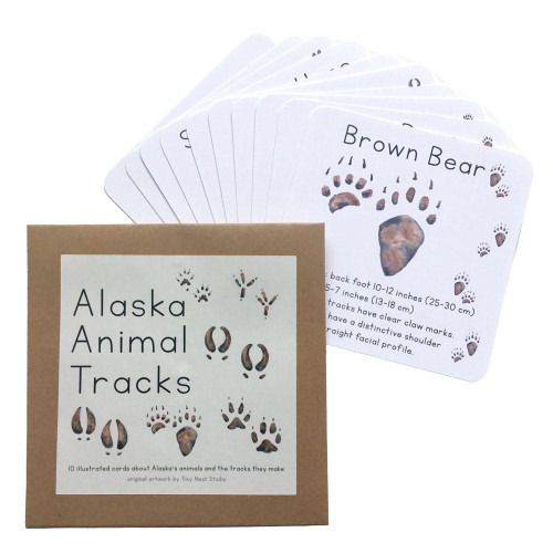 Alaska Animal Tracks Cards