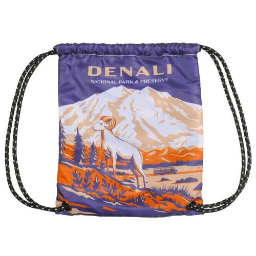Drawstring Bag - Retro Denali