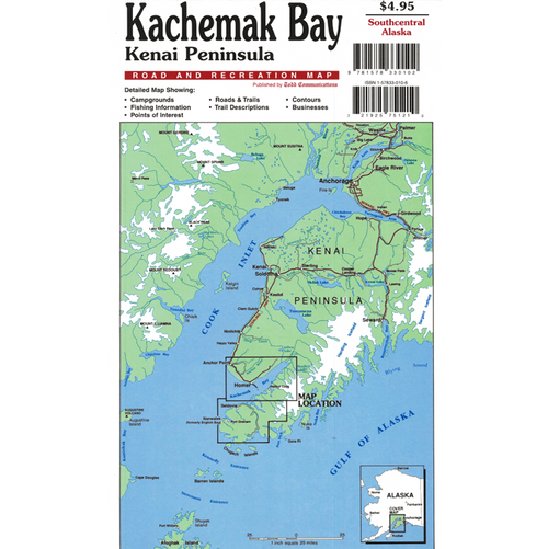 Map - Kachemak Bay Kenai Peninsula Road & Recreation