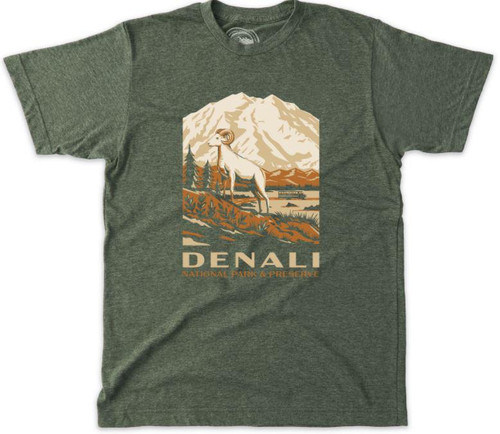 T-Shirt - Denali Retro - Military Green