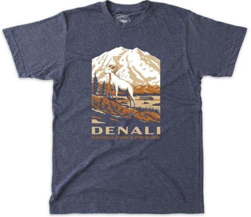 T-Shirt - Denali Retro - Slate Blue