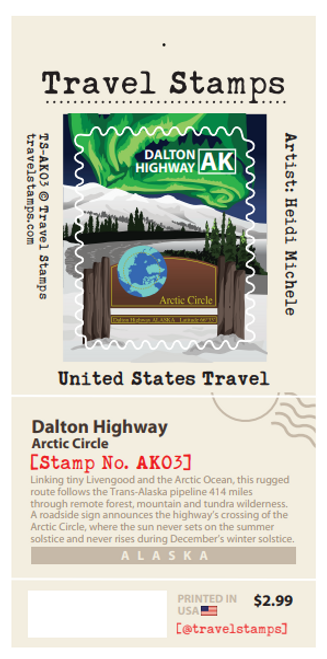 Travel Stamp - Dalton Highway/Arctic Circle