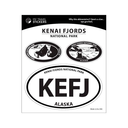 Triple Sticker Set - Kenai Fjords National Park