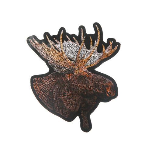 Sticker Denali Moose Typography