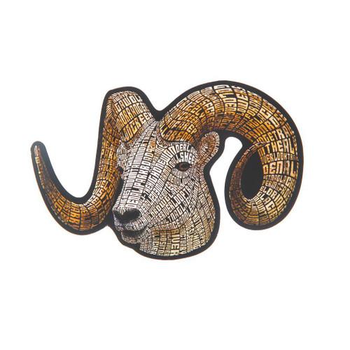 Sticker Denali Dall Sheep Typography